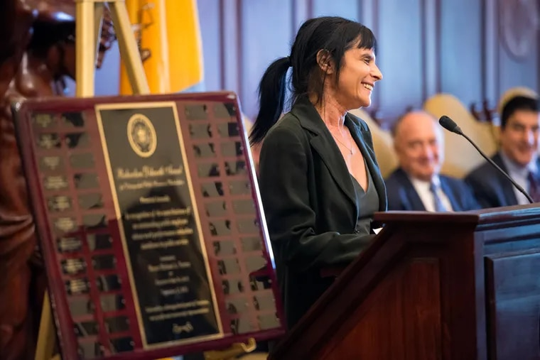 Laura Cassidy won the Richardson Dilworth Award for Innovation in Government.