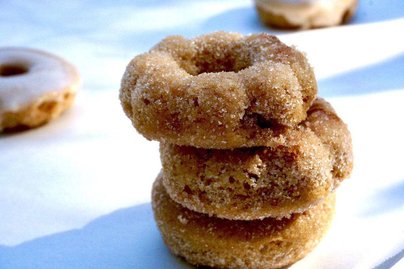 After you get the apple cider, it's time to make doughnuts
