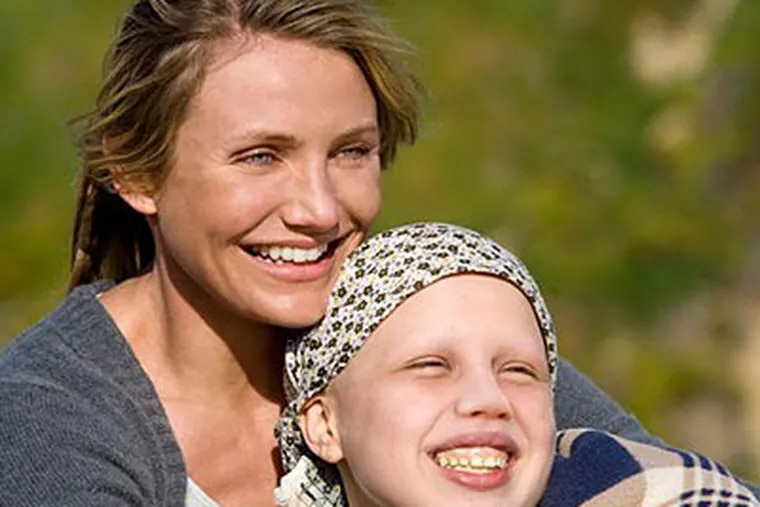 """Cameron Diaz, left, and Sofia Vassilieva who plays her leukemia-stricken daughter Kate in the film """"My Sister's Keeper."""" (AP Photo/New Line Cinema, Sidney Baldwin)"""