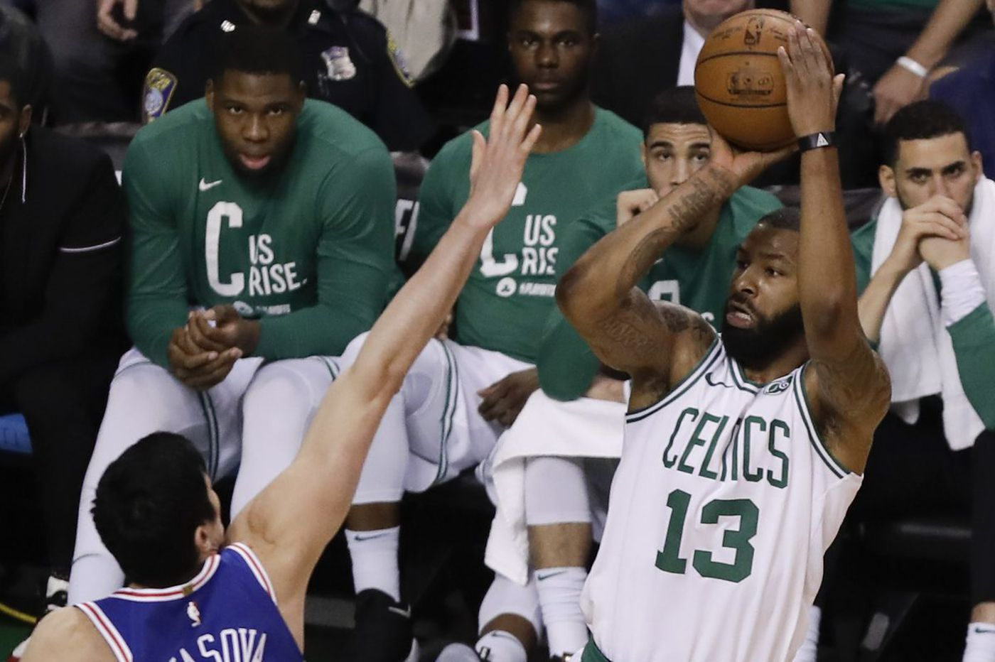 Celtics' rough play against Sixers led by North Philly native Marcus Morris | Marcus Hayes
