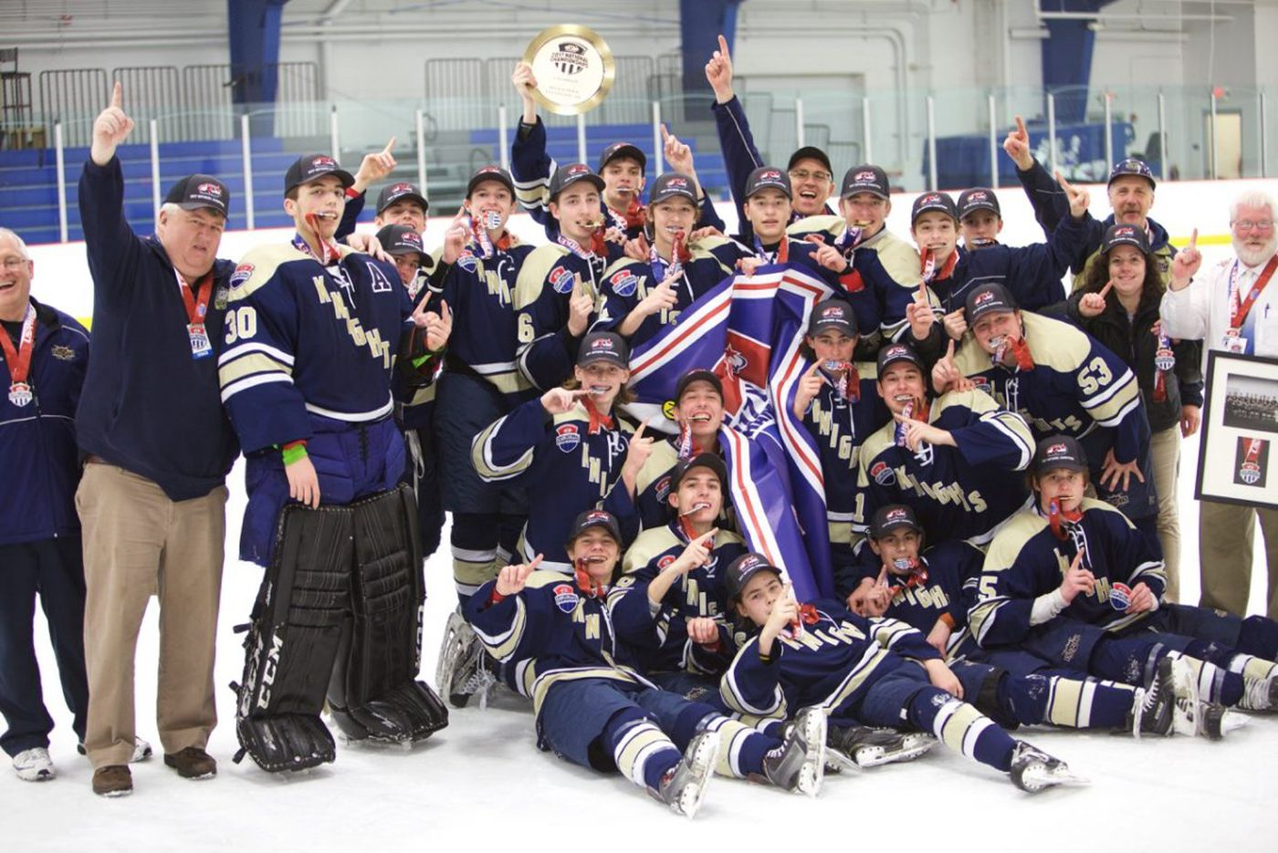 Coach Nick Russo built West Chester Rustin ice hockey into a powerhouse
