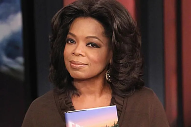 Oprah Winfrey during the live broadcast of her talk show Friday, Sept. 17, 2010, at Harpo Studios in Chicago. Winfrey is honoring Mastery for outstanding work educating Philadelphia students during today's show.