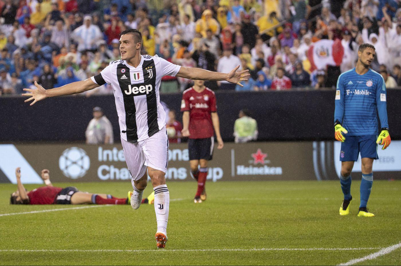 Juventus rides Andrea Favilli brace to beat Bayern Munich at Lincoln Financial Field