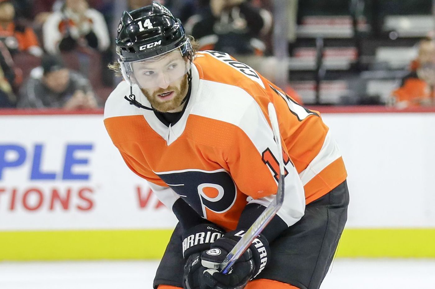 First Sean Couturier found his game, then his voice