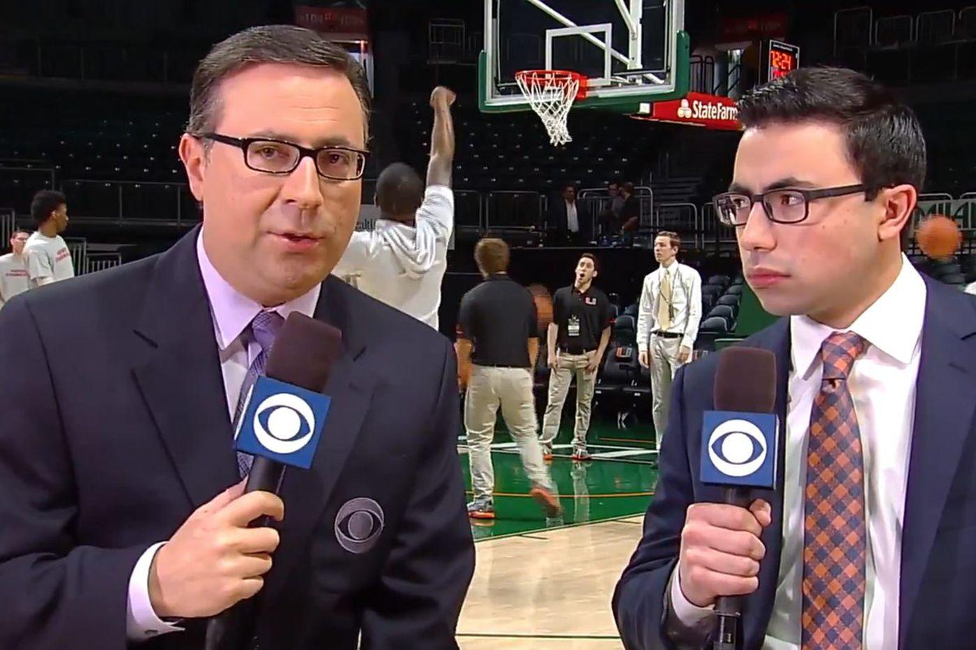 NCAA Tournament: CBS's Ian Eagle talks Villanova, going viral after interview with his son