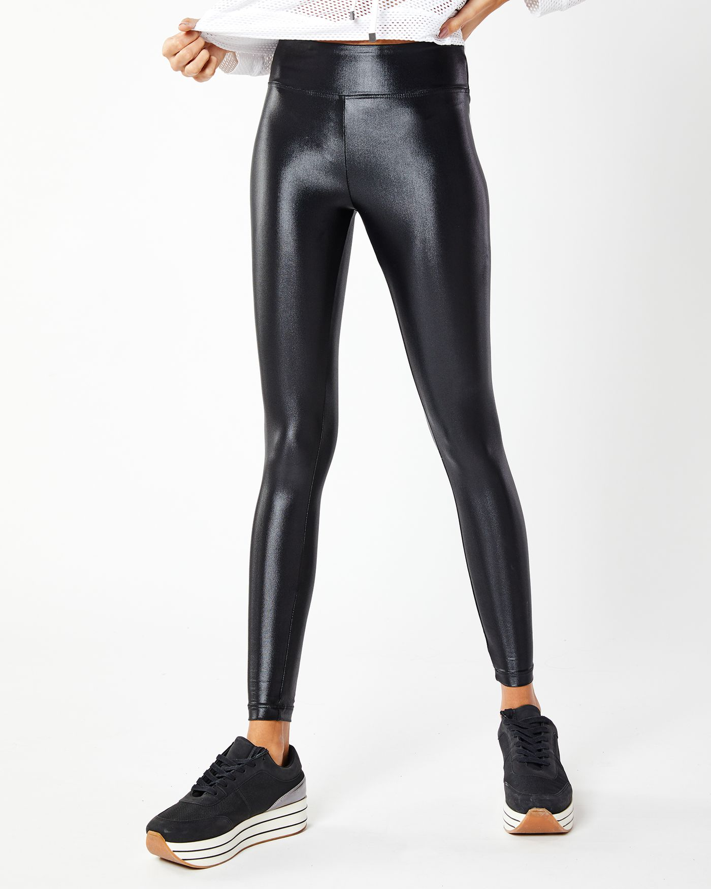 78de4c38671ee Lustrous High-Rise yoga pant in liquid faux leather by Koral are available  on the