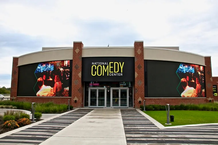 The National Comedy Center was  built in a restored railroad station in Jamestown, N.Y.