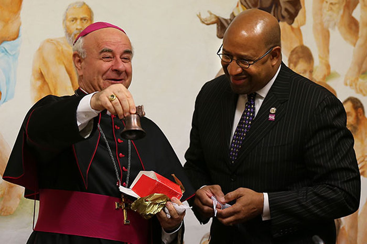 Cleric helping with pope's Philly visit in hot water
