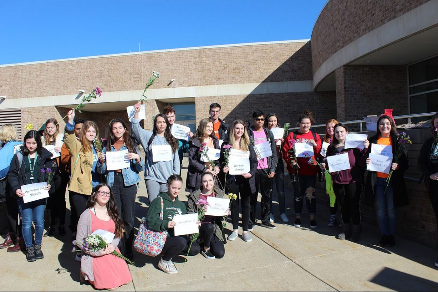 Punished for walkout, Bucks students turned detention into viral gun protest