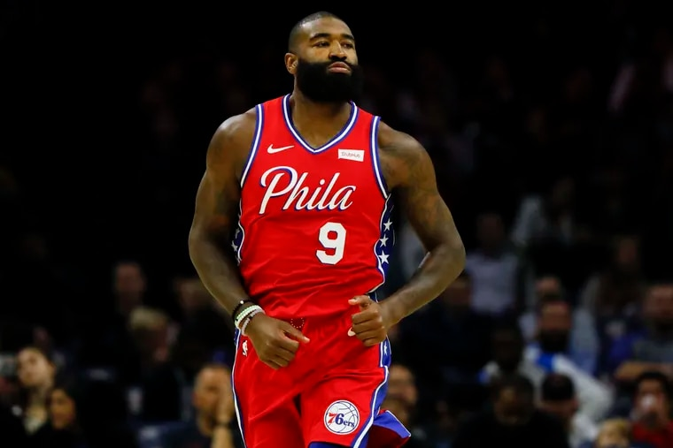 Philadelphia 76ers' Kyle O'Quinn missed Sunday's COVID-19 test, so he won't be able to play Monday against the Spurs.