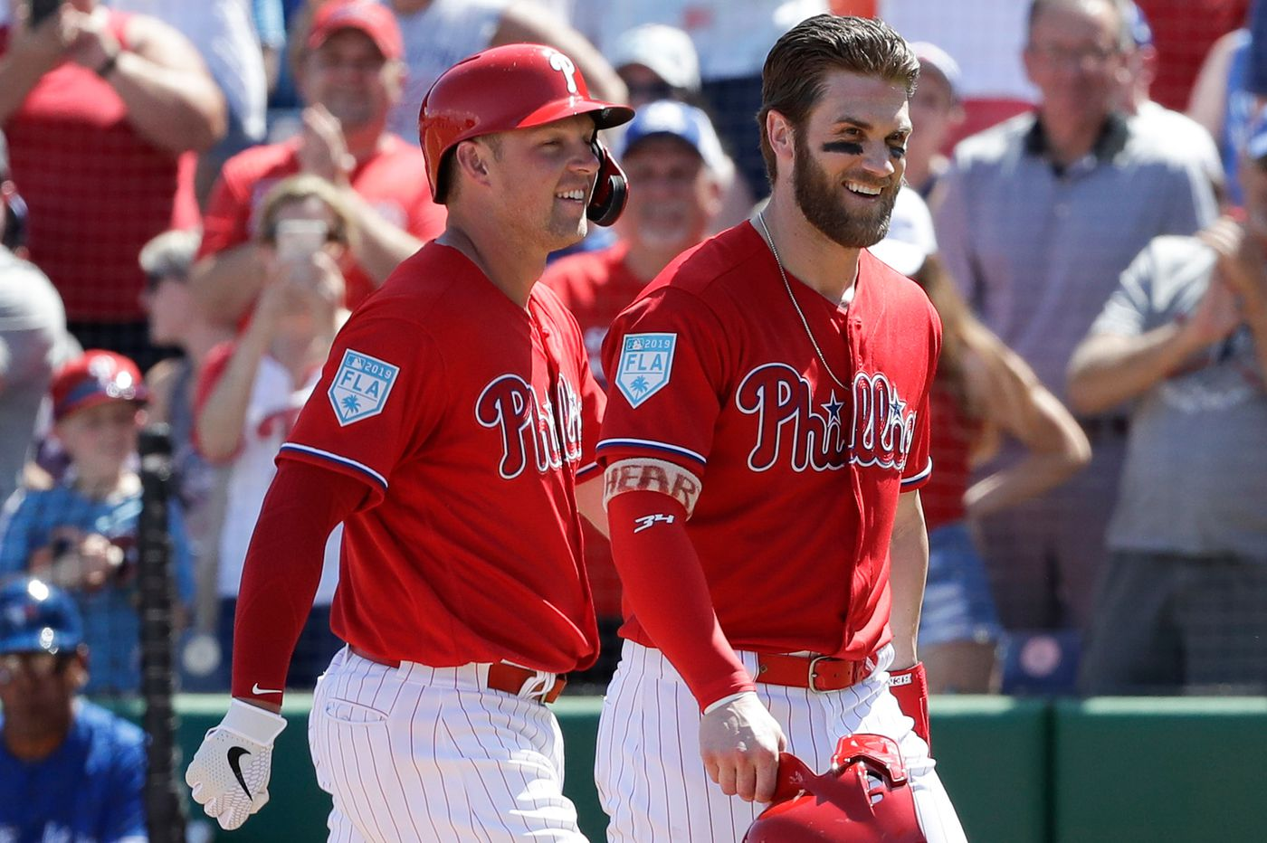 Bryce Harper Went From Rhys Hoskins Rival To Teammate Now