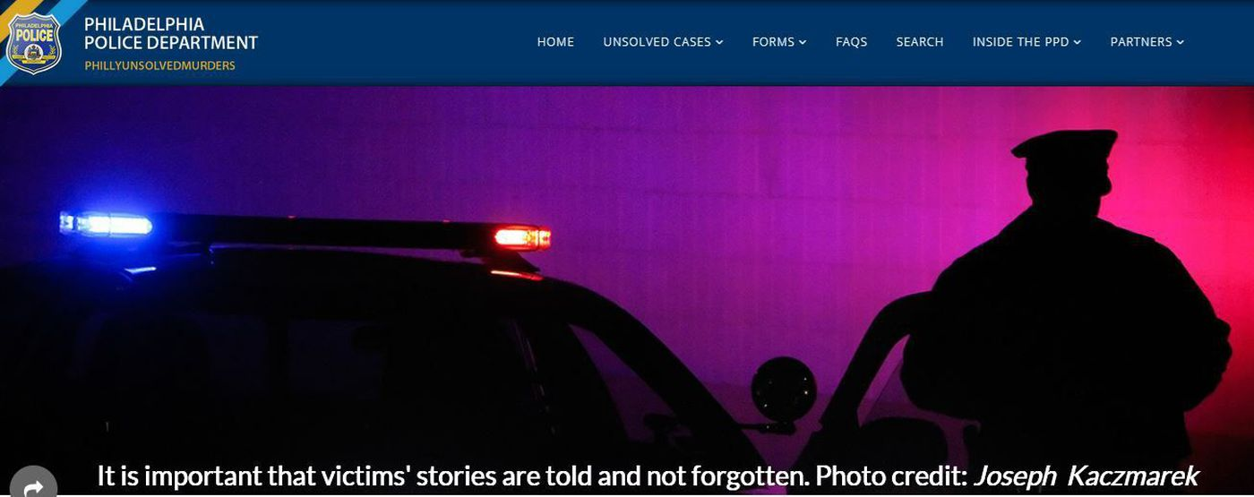 Philly police launch website to help find suspects in