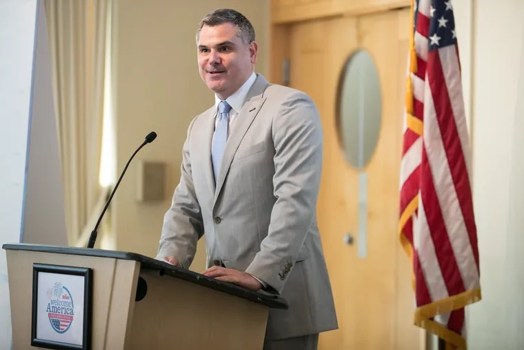 Jeff Guaracino, President and CEO of Welcome America, Inc, during a press conference to announce the 2018 Wawa Welcome America events, in Philadelphia, Monday, May 21, 2018.  Guaracino was named CEO of Visit Philadelphia on Sept. 6, 2018.