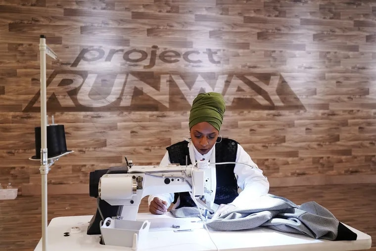 Local designer, Renee Hill of Harx 4, sewing her creations as a Project Runway contestant. She's the show's fourth contestant to hail Philly.