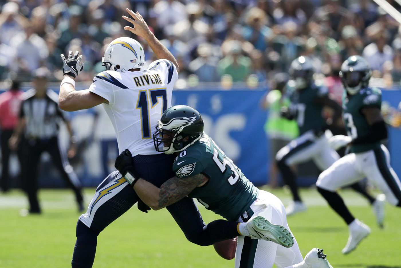 Eagles 26, Chargers 24: Up-Down Drill