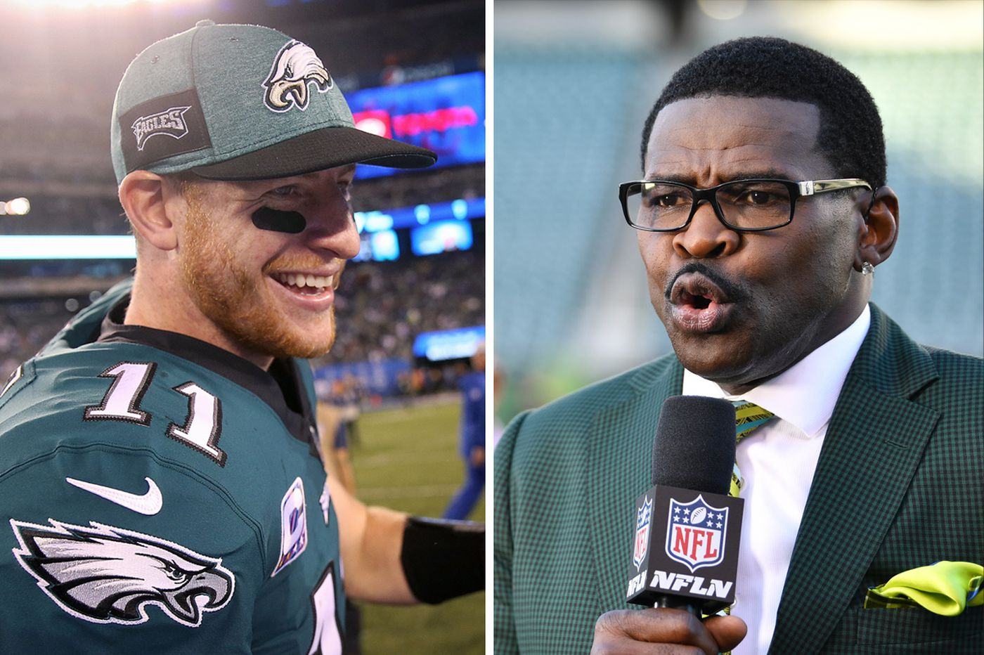 Eagles-Panthers: Michael Irvin on the 'Wentz wagon,' Brian Dawkins gets a ring