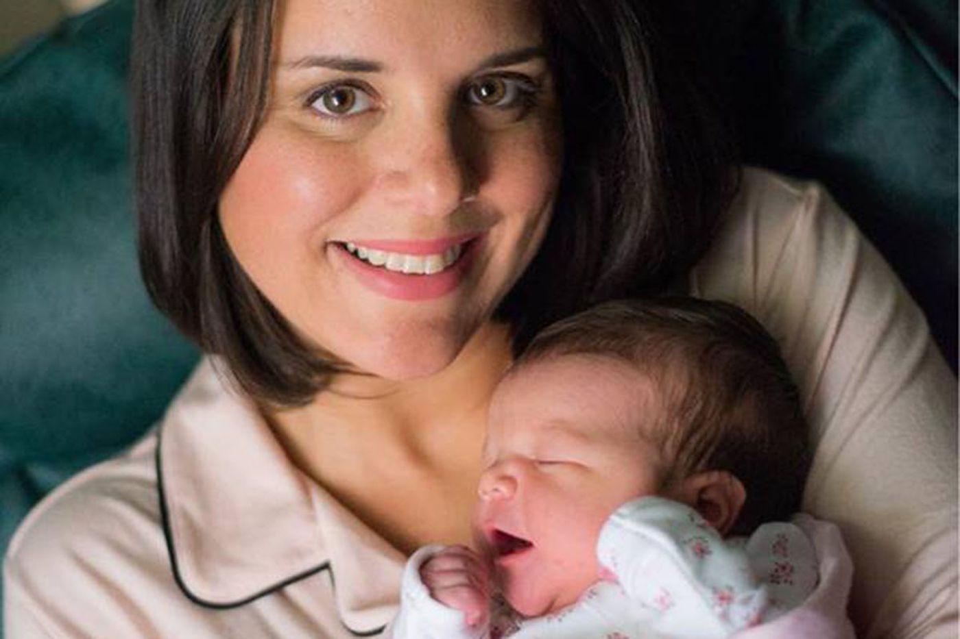 CBS3 meteorologist Kate Bilo welcomes new family member