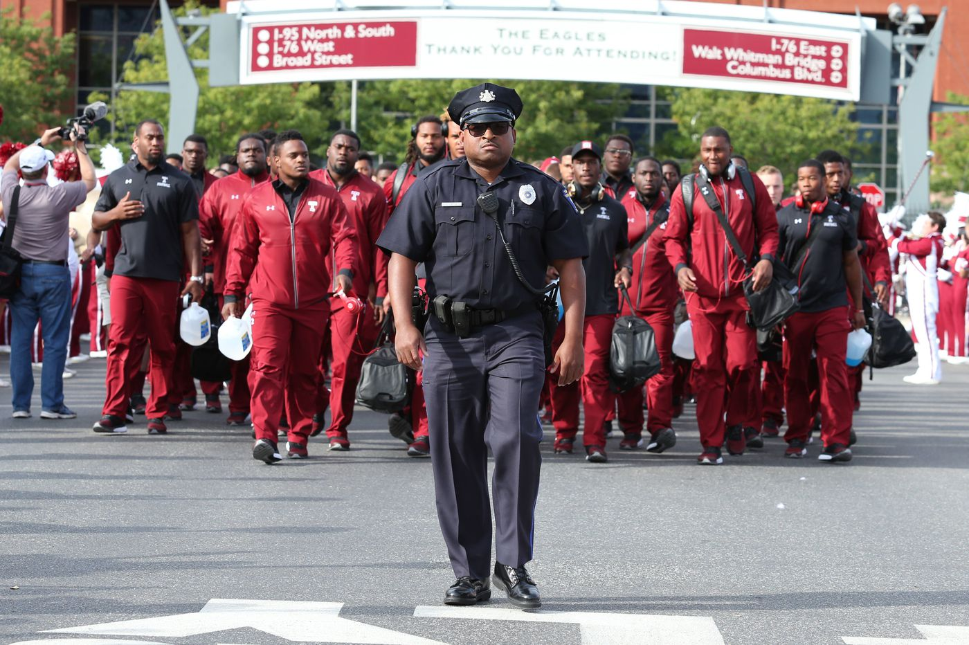 Officer James Jones was a Temple football star in his own unique way