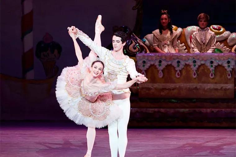 Principal dancers Julie Diana and Ian Hussey as Sugarplum and her Cavalier.