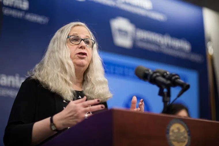 Pennsylvania Department of Health Secretary Dr. Rachel Levine speaks during a press conference in March. On Tuesday, President-elect Joe Biden announced he was nominating her to serve as the incoming administration's assistant secretary of health.