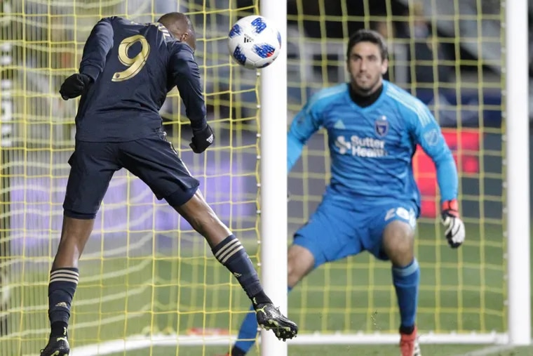 The Philadelphia Union had 22 shots against the San Jose Earthquakes, but just one goal in a 1-1 tie.