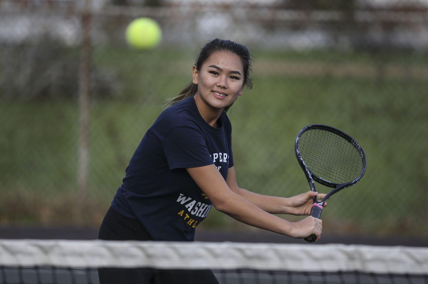 Washington's Eliza Askarova ends stellar tennis season in the Pa. state final four — again