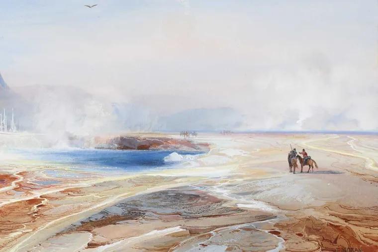 """Big Springs in Yellowstone Park,"" 1872, by Thomas Moran."