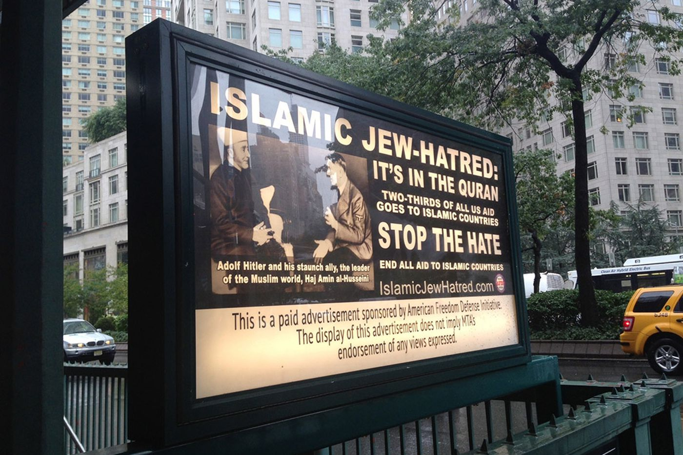 Ad targeting Islam to go before judge