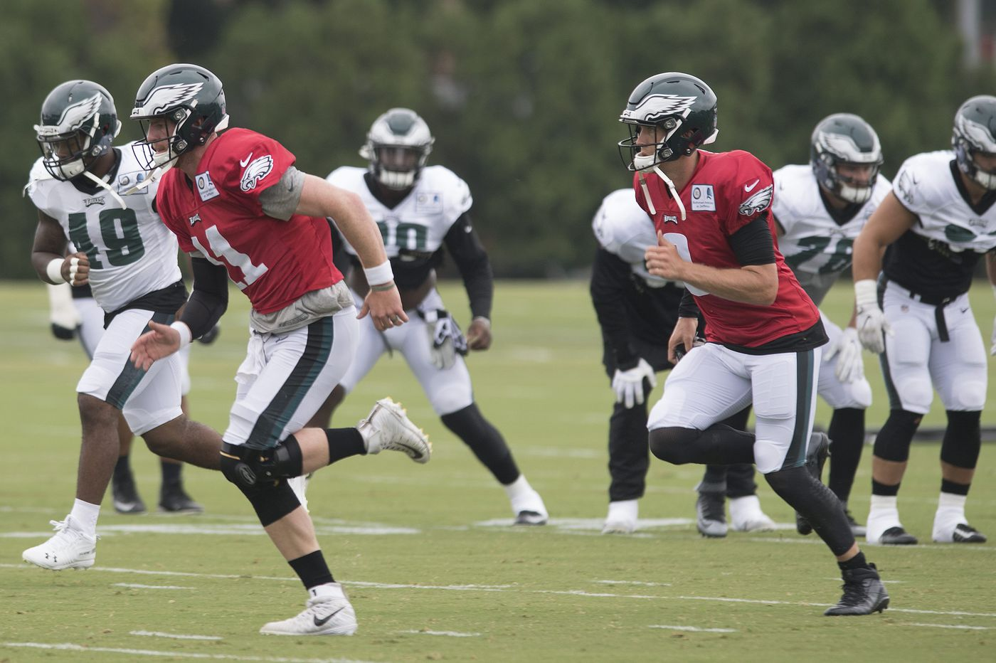 Eagles practice observations: Dallas Goedert lives; Jalen Mills competes; Avonte Maddox rises