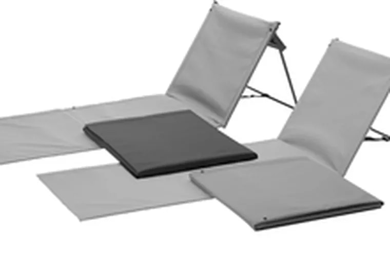 Equipped with a built-in backrest, the Sommar Mat ($20) supports your pursuit of leisure. Available at area Ikea stores and www.ikea.com.