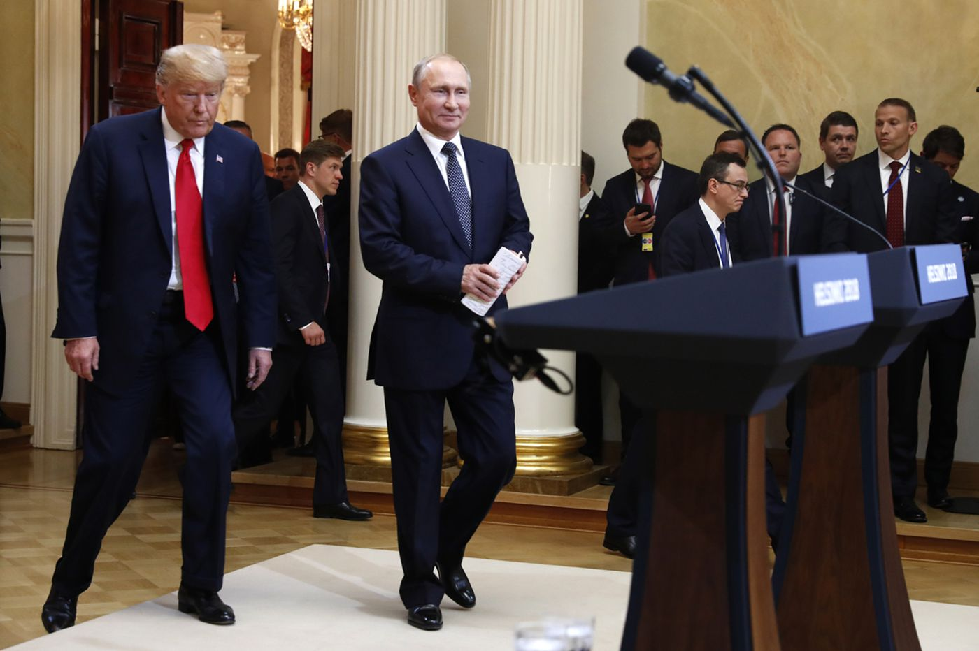 Trump's comments alongside Putin criticized by both parties as 'disgraceful,' 'treasonous' and 'shameful'