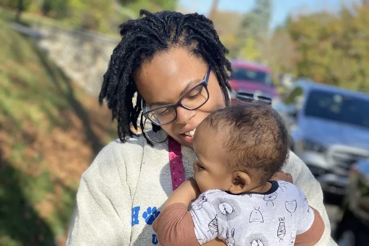 Nykia with her son, Enoch