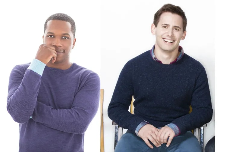 Broadway and recording stars Leslie Odom Jr. (left) and Penj Pasek posted an Instagram invitation to join them on a political canvassing bus ride tio two Pennsylvania districts on Monday, Nov. 5.