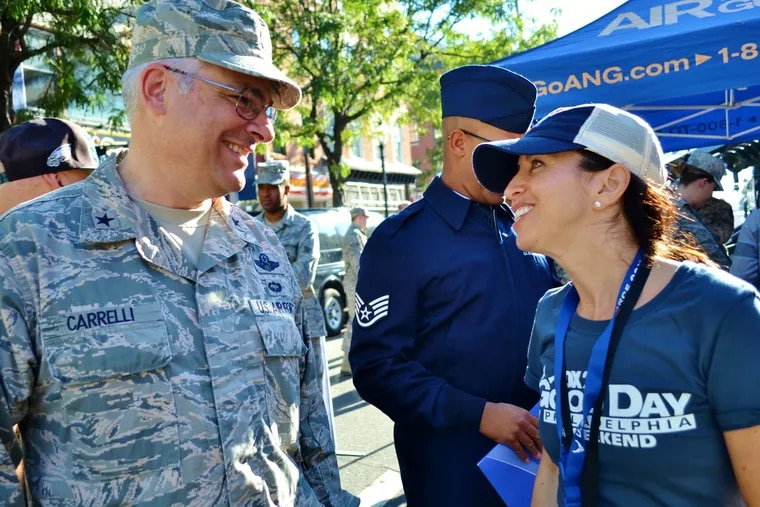 Major General Anthony Carrelli, abruptly retired Saturday as Pennsylvania's Adjutant General, a Cabinet-level position. Carrelli is seen here at a FOX 29 Salutes the Military event in September 2016.