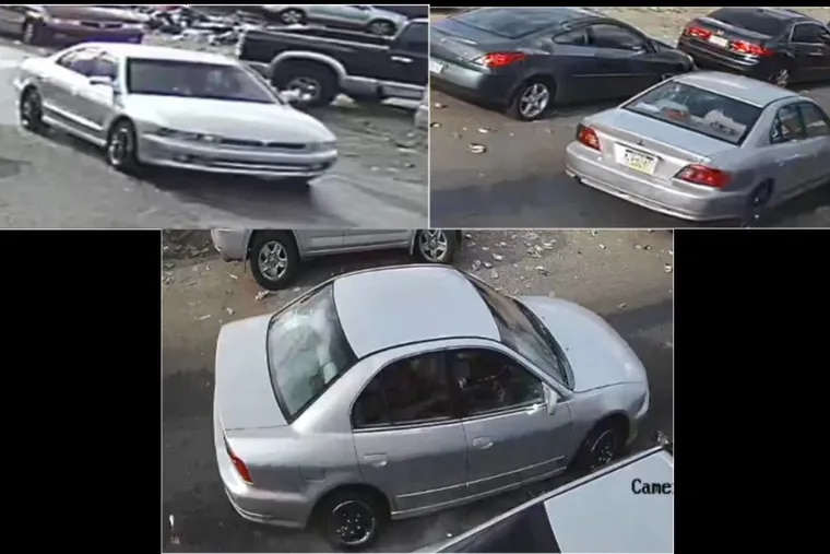 Images of car, believed to be a silver Mitsubishi, possibly an early 2000s-era Gallant, sought in hit-and-run incident on July 22 at 6:19 p.m. on 100 block of East Clearfield Street. Victim,  Mario Urroz, 41, was critically injured and remains in coma at Temple University Hospital.