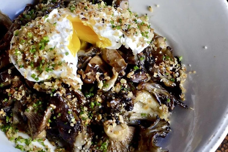 Sauteed mushrooms at Slow Hand.