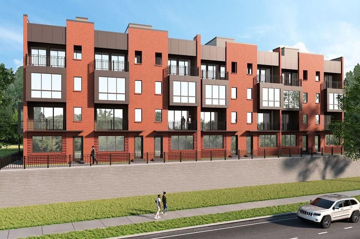Coming in September: First new residential townhouses on Kelly Drive in 60 years