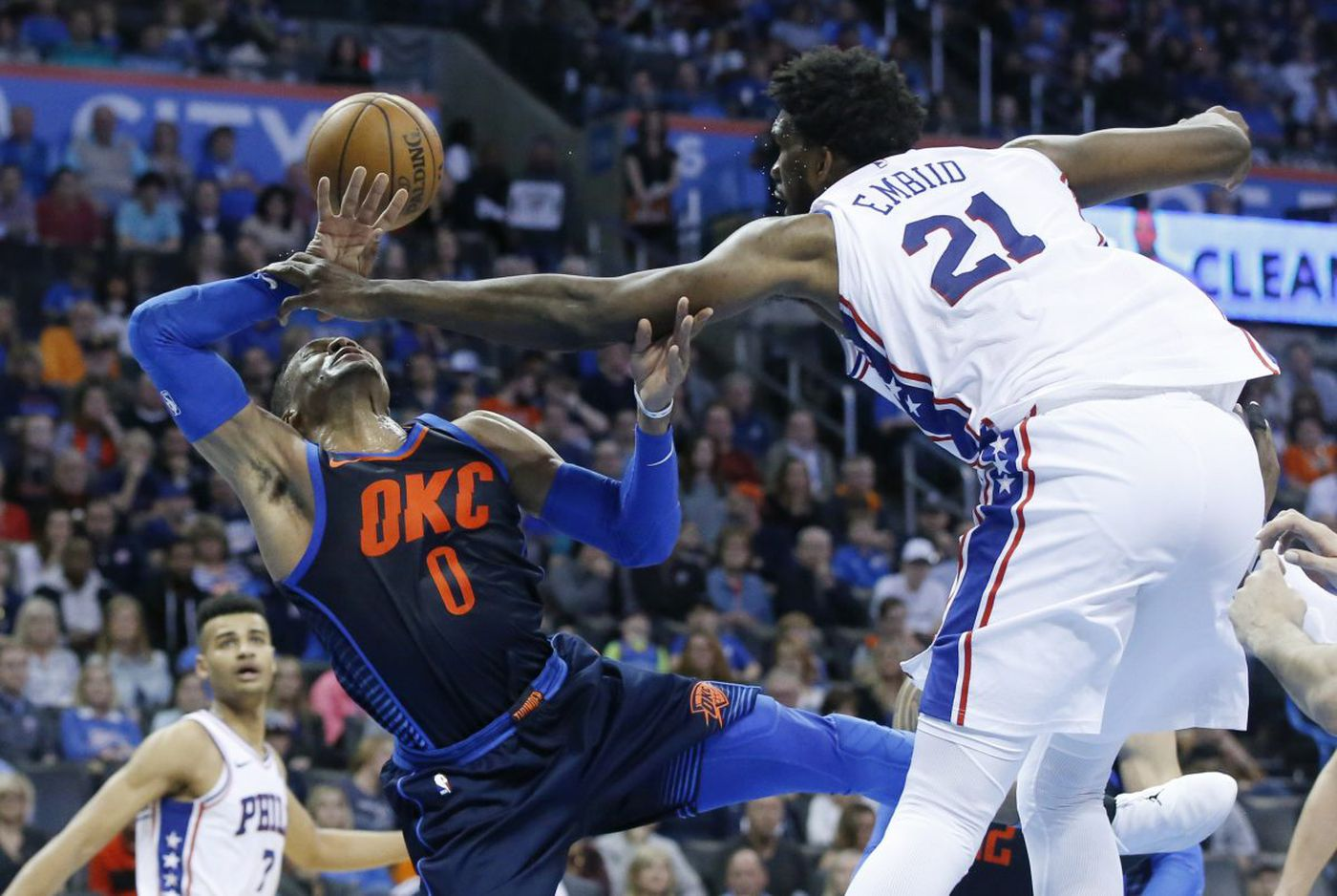 Sixers-Thunder observations: Russell Westbrook, Joel Embiid and late-game blunders
