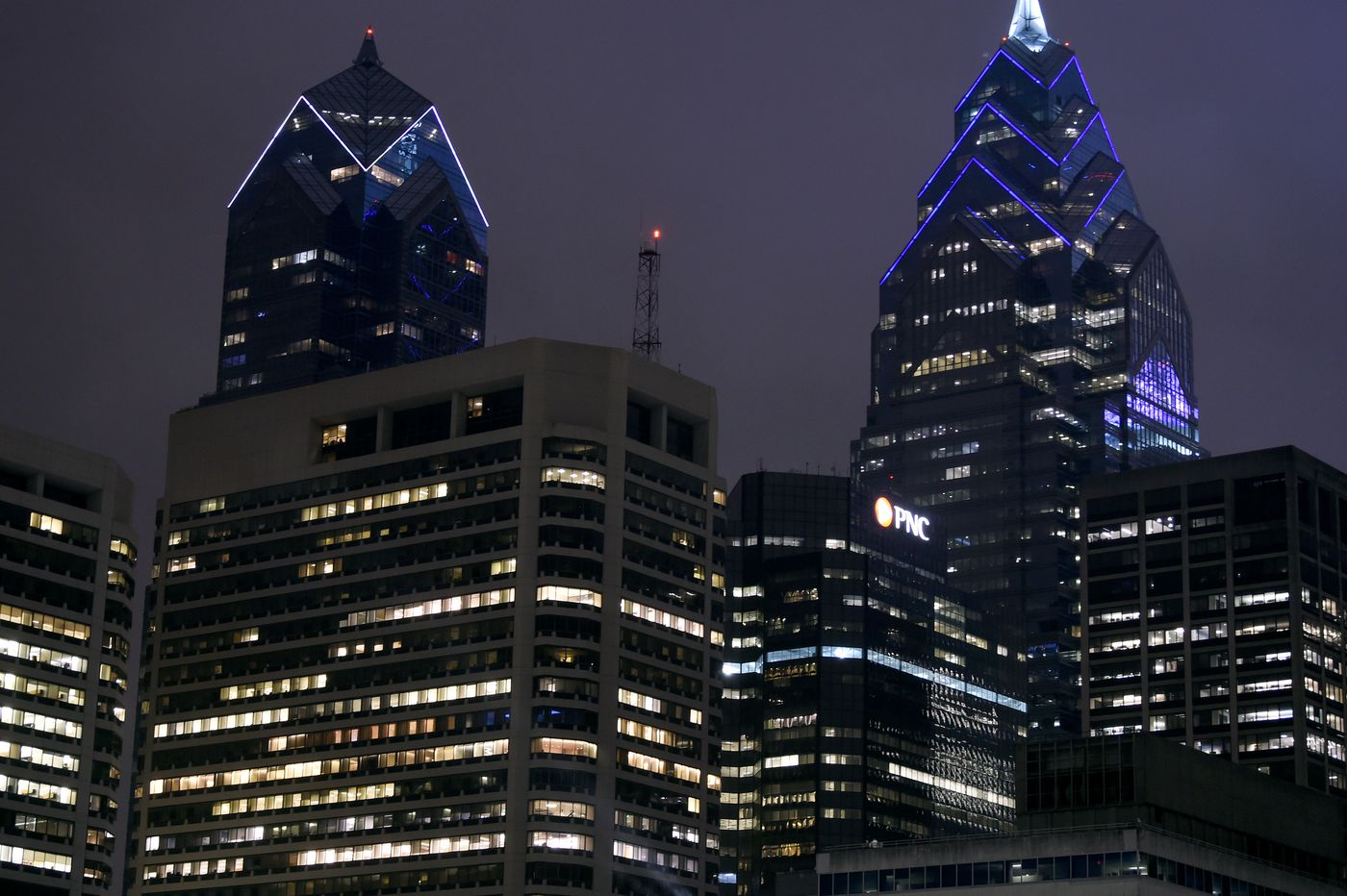 Why are Philadelphia office towers all lit up at night? We shed some light.