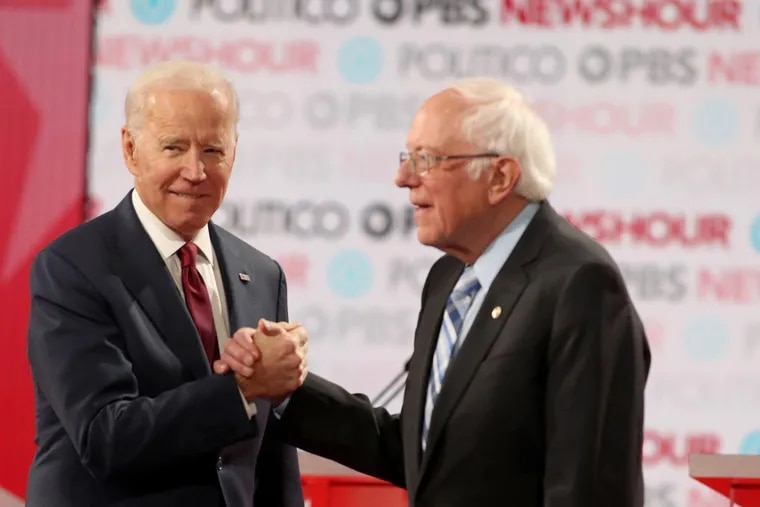 Former Vice President Joe Biden, left, received more money from Pennsylvania donors than any other Democratic candidate for president in 2019. He was followed closely by Vermont Sen. Bernie Sanders, right.
