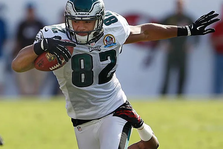 With an injury to Brent Celek, Clay Harbor will be put into a starting position. (Ron Cortes/Staff Photographer)