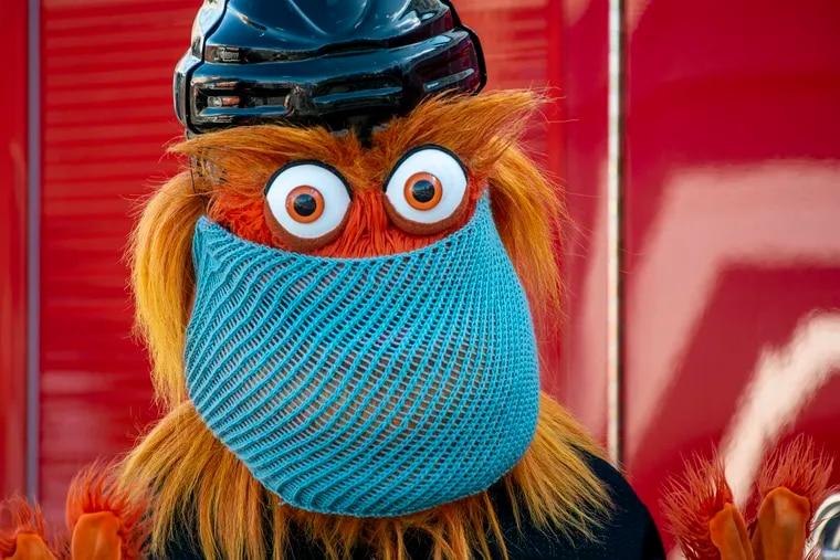 Gritty's wearing a mask. Here's when you should, too.