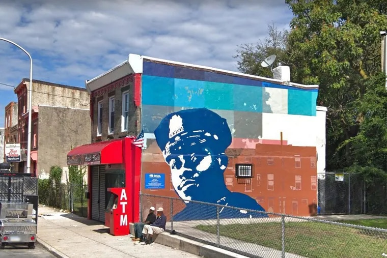 Mural honoring Sergeant Robert Wilson, who was killed in 2015 trying to stop a robbery inside a video game store.