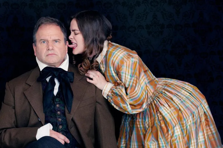 """David Ingram and Charlotte Northeast as Robert and Elizabeth Barrett Browning in the Orbiter 3 production of """"The Brownings,"""" through Dec. 9."""