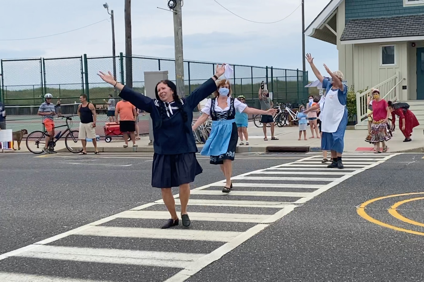 'We wanted to spread a little joy': Friends stage 'The Sound of Music' in a Shore town crosswalk