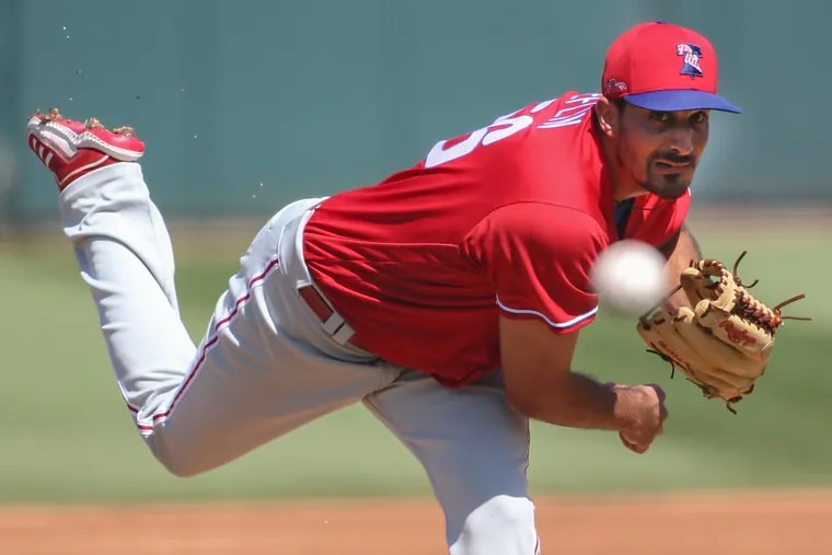Phillies pitcher Zach Eflin has looked sharp in spring-training games and appears destined for a breakout season in 2021.