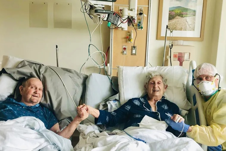Tom Stevens and his wife, Virginia, were hospitalized with COVID-19 in early August and put in separate rooms. Within a day, their physicians agreed that the couple, married for 66 years, should not be kept apart — they needed to recover in a room together.