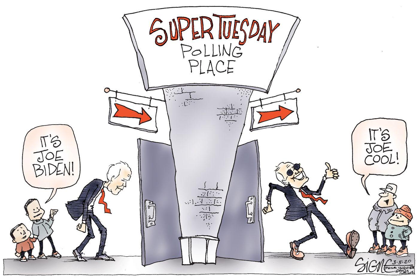 Political Cartoon: Good Ol' Joe Biden's Super Tuesday transformation