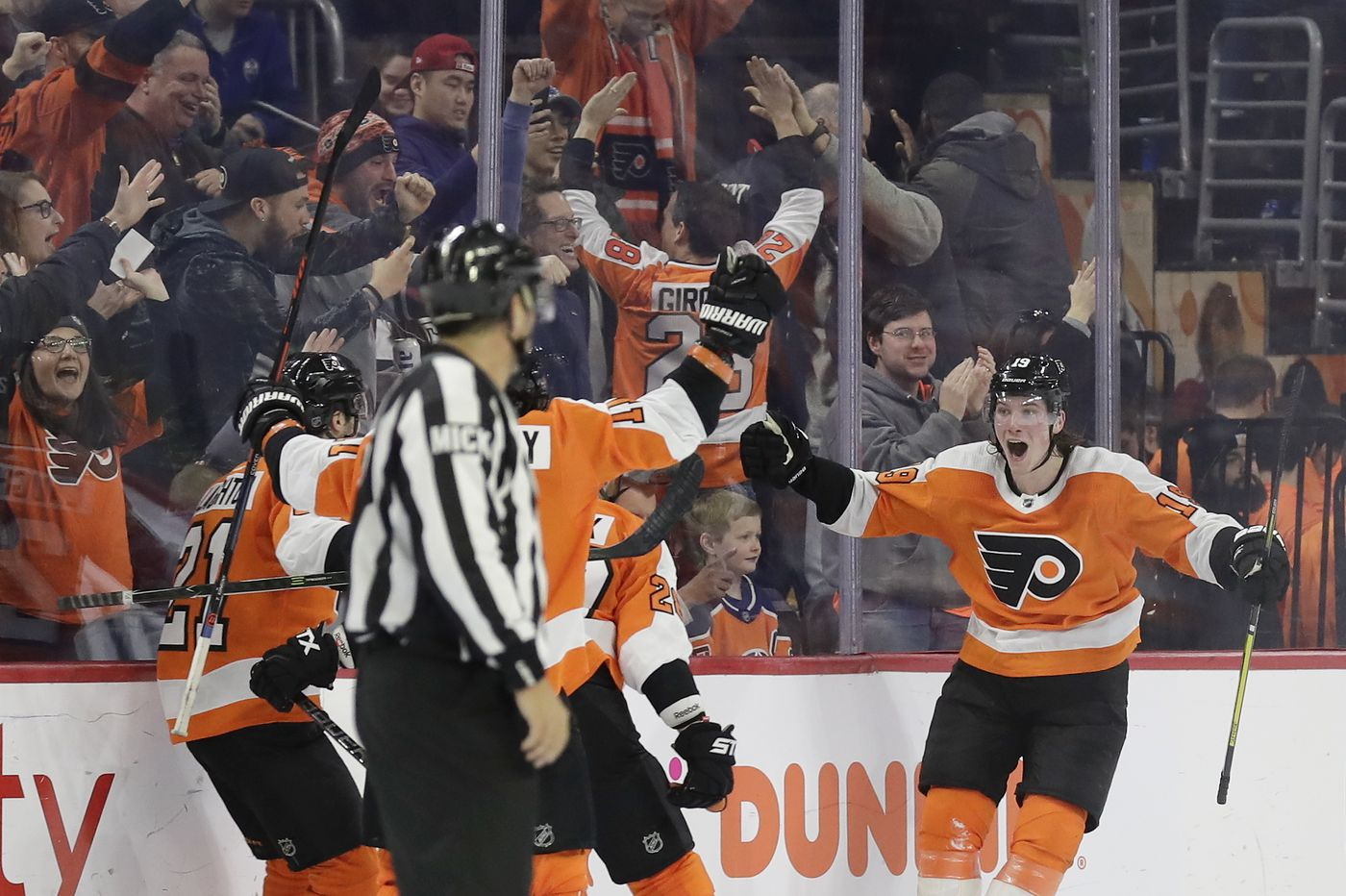 Flyers win seventh straight, beating Oilers in overtime on Nolan Patrick's goal