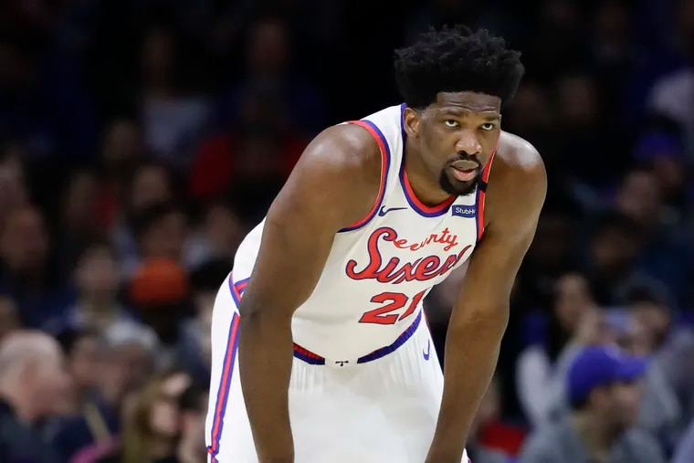 Sixers center Joel Embiid has been known to report to the team in less-than-great shape. But GM Elton Brand says Embiid will be ready when called.